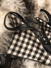 Funky Wedge Sandals - Gingham Pattern - Strappy - Size 5 'Faith'