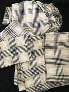 5pc Eddie Bauer FLANNEL PLAID Duvet, 2 SHAMS, Flat And Fitted FULL SIZE