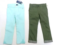 2 Genuine Kids Oshkosh Girls Pants Aqua Skinny Jeans  Casual Green Pants 5T