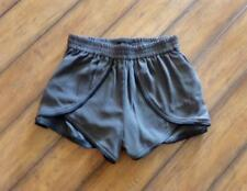 FOREVER 21 ~ New! Small ~ BOHO FESTIVAL! Vegan Leather Trim HIGH RISE Shorts