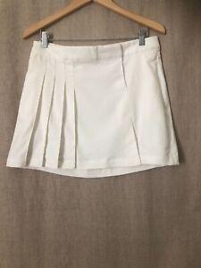 NWT $110 Nike Tour Premium Golf Dri Fit Womens Skirt Size 8 White Style 483639