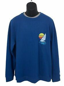 Chubbies Blue Sweatshirt America Sail You Later Pullover HUGE PRINT Size 2XL XXL