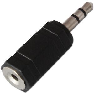 2.5mm Socket to 3.5mm Mini Jack Plug Stereo Audio Converter Adaptor