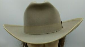 Vintage Western Cowboy Hat Size 7 Silver Belly 5X Beaver Hand Creased 1960's WOW