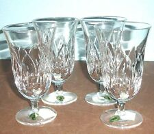 Waterford Ballylee 4 Iced Beverage Crystal Glasses Made in Ireland 12-Oz New