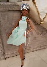 Fashion Set 6 Teilig Kleid für Barbie Basics Model Muse Helles Mint und Silber