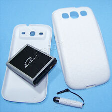 Extra Extended Battery Back Cover Case Pen for Samsung Galaxy S III 4G LTE I9300