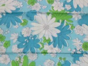 Vtg Cannon Monticello Blue KING Blossom Festival Flower Power Pillowcase CRISP