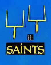 "5"" Yellow Goal Post w/SAINTS Pad Wrap & Original Vintage SAINTS VTG Sticker!"