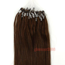 """16-26""""Ombre Easy Loop Micro Rings Beads Remy Human Hair Extensions Straight 100s"""