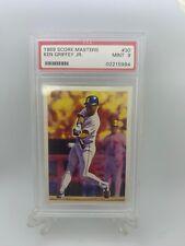 1989 SCORE MASTERS KEN GRIFFEY JR. #30 Seattle Mariners PSA MINT 9 HOF!