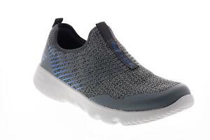 Skechers Go Run Focus Raptor 55167 Mens Gray Canvas Lifestyle Sneakers Shoes