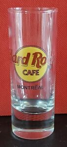 """Hard Rock Cafe Shooter Glass 4"""" Montreal Classic Logo double black circle ~ x403"""