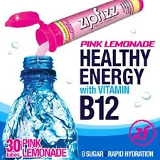 ZipFizz All Natural  Energy Drink Mix - PINK LEMONADE (30 Tubes) * FREE SHIP *