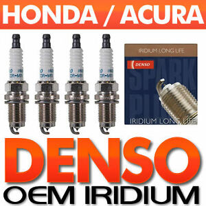 4 PC Honda/Acura DENSO Iridium Spark Plug Set > OEM for MDX, Accord, Civic,CR-V+
