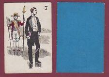 Carte à jouer ancienne XIXe - 301113 - 7 personnalité habit d'apparat