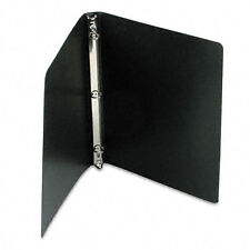 """ACCO ACCOHIDE Poly Ring Binder With 23-Pt. Cover, 1/2"""" Capacity, Black"""