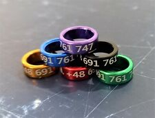 Racing Pigeon Engraved Aluminium Rings with Phone Number ! 50 pcs ! HIT !