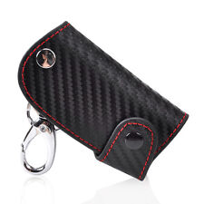 Leather Carbon Fiber Remote Key Case Holder Housing Protector chain keyless Fob