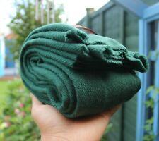 Warm & Soft Cashmere Pashmina Scarf Shawl Warp Stole Handmade Green Colour