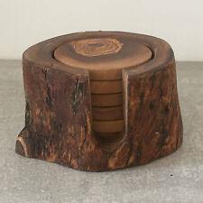 Untersetzer-Set 6-tlg. rustikal / Holzuntersetzer, Olivenholz, Handarbeit