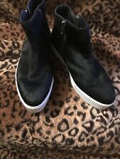 maruti Designer boots Black Ponyskin Fur Zip Up Ankle Cost £130 Size 36