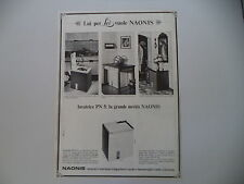 advertising Pubblicità 1967 LAVATRICE NAONIS PN 5