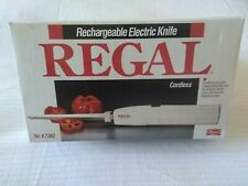 Regal Rechargeable Cordless Electric Knife K7382 Vintage New In Box