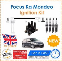 For Ford Fusion Ka Focus Puma Ignition Spark Plugs Coil Pack HT Leads Set New