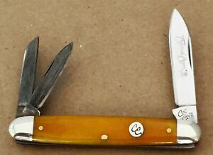 Colonel Coon Equal End Whittler Orange Bone Handle 1 of 200 Pocket Knife