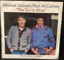 "Michael Jackson/ Paul McCartney "" The Girl Is mine""  - 7"" Single 45rpm Record"