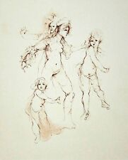 LEONOR FINI - Regards - 1989 Hand Signed and Numbered Etching - Plate 01