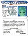 Alien UFO Operator's License ID Card  Area 51 Permit FREE SHIPPING