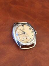 "Vintage Rare Rolex Tudor ""Rose In Shield"" Cushion Manual Wind Running Good"