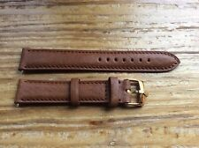 20mm Rolex Soft Cognac Leather Band