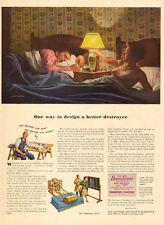 1944 ww2 era AD SIMMONS BEAUTY REST MATTRESS  great ART by John Falter  041516