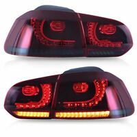 Customized RED SMOKED LED Taillights  for 10-13 VW GOLF 6 MK6 GTI 12-13 Golf R