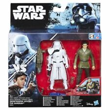 "Star Wars Force Awakens Poe vs FO Snowtrooper 3.75/"" Dual Pack Figures BNIB"