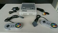 Super Nintendo Console With 2 Controllers & All Plugs READY TO PLAY SNES ☆