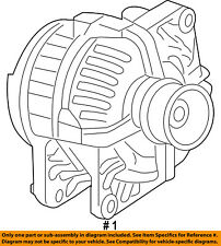 CHRYSLER OEM-Alternator 4801768AC