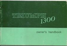Triumph 1300 y compris tc original owners handbook 1967-1970 no. 512901 8th éd.