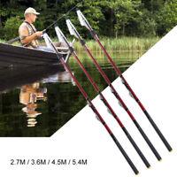 Ultralight Telescopic Fishing Rod Hard Carbon Fiber Travel Spinning Fishing Pole