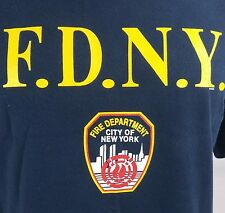 Mens Large Blue F.D.N.Y. Fire Department New York T Shirt EUC $28 Made in U.S.A.