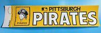 "1970's Pittsburgh Pirates 4"" X 14"" Bumper Sticker Rare Vintage Logo MLB"