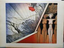 "Josep Puigmarti Valls (1932-) Original S/N Lithograph #147/150 22""×30"" Nude"
