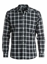 Quiksilver Everyday Check Black L/S Regular Fit Woven Shirt Sz Medium