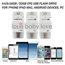 64GB i-Flash Dispositivo Drive USB OTG Memoria Stick Pendrive Per iPhone iPad PC