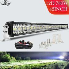 """12D LED Light Bar 22/32/42/50/52"""" 4x4 Offroad Combo Beam Work for Trucks SUV ATV"""
