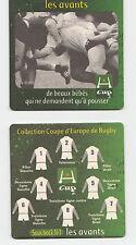 ★ HEINEKEN ★ RUGBY Sous bock coaster deckel #1 LES AVANTS H-Cup