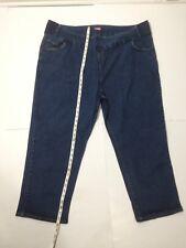 Woman Within Plus Size 32W Blue Denim Jeans Pants Elastic Waist Mom